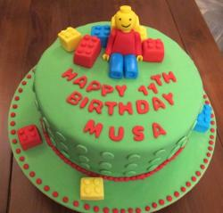 Green lego birthday cake photos.JPG