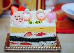 Cute Layered Japanese Cake with Green Tea & Fresh Strawberries.JPG