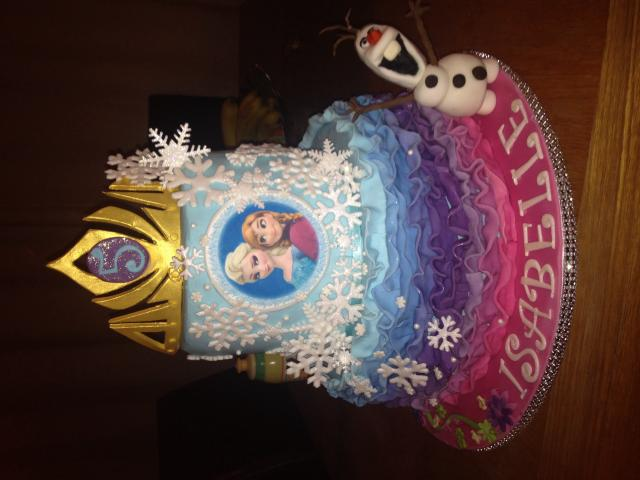 Frozen ruffle cake made for my daughter