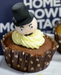 Chocolate Cupcake with Man with High Hat Topper.JPG