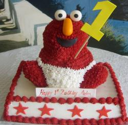Baby elmo birthday cake for one-year-old.JPG