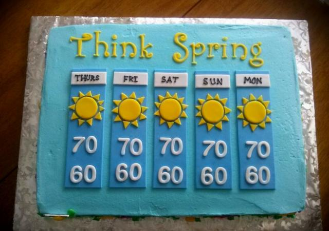 Birthday Cake Images With Name Sunny : Weather Forecast Cake with Sunny Days.JPG Hi-Res 720p HD