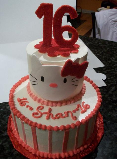 Two Tier Hello Kitty Sweet 16 Birthday Cake Jpg 1 Comment
