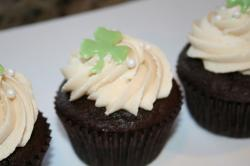 St. Patrick's cupcakes with cloves cupcake decor.JPG