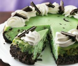 Green mint cake with chocolate mint.JPG