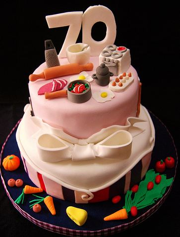 Vegetable and kitchen theme 70th birthday cake.JPG