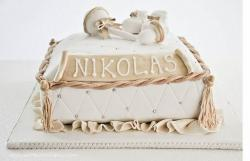 Golden Christening Cake picture
