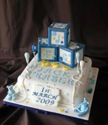 Fun Christening Cake picture