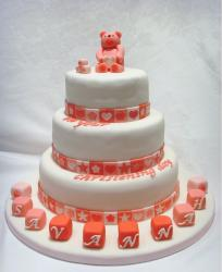Fany Christening Cake in three tiers