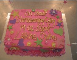 Colorrful Christening Cake pix