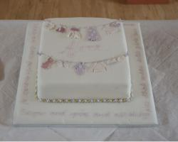 Image of simple Christening Cake in white