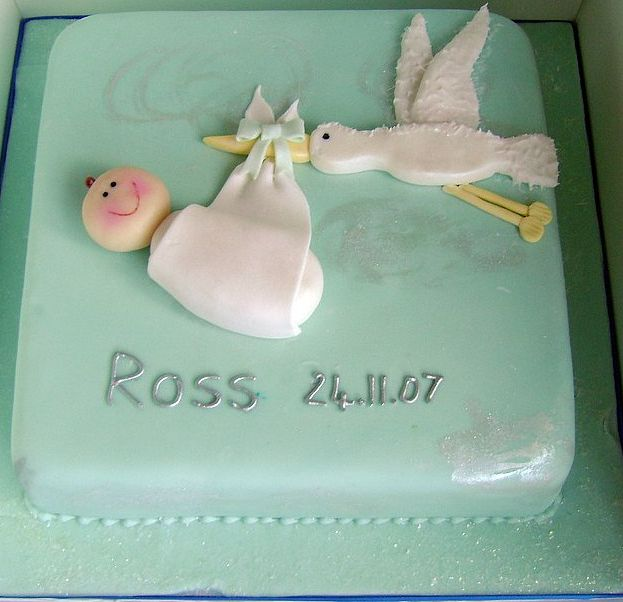 Baby delivering Christening Cake