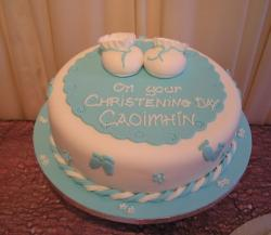 Pictures of Christening Cakes with baby shoes