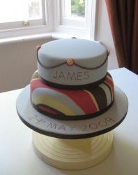 Christening Cake with very cool patterns