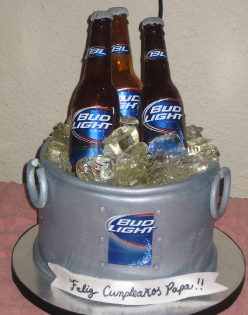 Enjoyable Gray Beer Bucket Birthday Cake Jpg 1 Comment Funny Birthday Cards Online Elaedamsfinfo