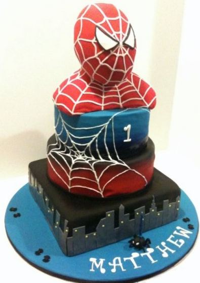 Spiderman birthday cake.JPG