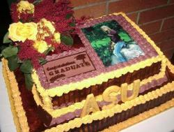Arizona State ASU Graduation photo cake.JPG