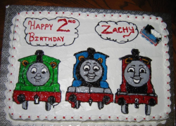 Three trains and friends big cakes for kids birthday party with trains theme.PNG