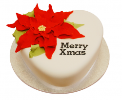 Picture of Poinsettia Christmas Cake with big red flower.PNG