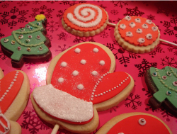 Picture of big Christmas cookies in vibrant colors looking so pretty.PNG