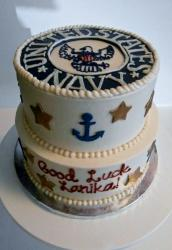 United States Navy Send-Off Cake in 2 Tiers.JPG