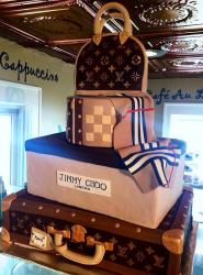 Louis Vuitton 4 Tier Handbag & Suitcase Cake for Women.JPG