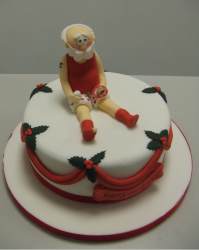 Santa Christmas cake red and red decor.PNG