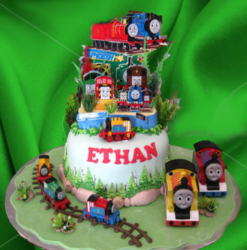 Kids Thomas the train birthday cake photos.PNG