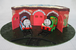 Thomas the train perfect for kids birthday cakes with Gordon and Henry.PNG