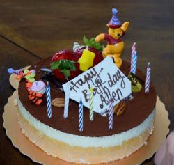Winnie the Pooh and Tigger Birthday Cake with Candles.JPG