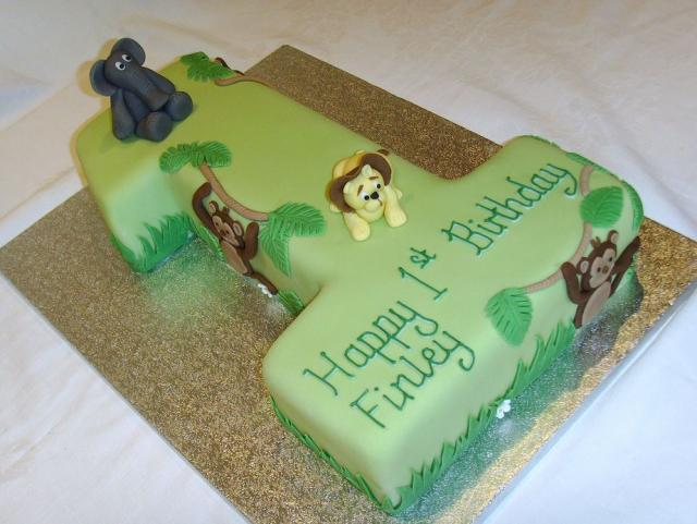 Number  Shaped Birthday Cake