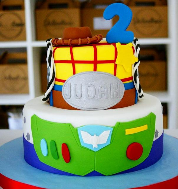Disney Toy Story Theme 2 Tier Second Birthday Cakeg Hi Res 720p Hd