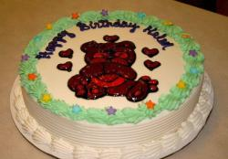 Kids ice cream cakes with teddy bear cake decor photos.JPG