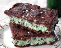 Mint ice cream sandwish with brownies.JPG
