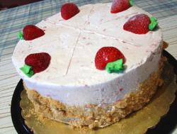 Strawberry ice cream cakes with strawberries photos.JPG