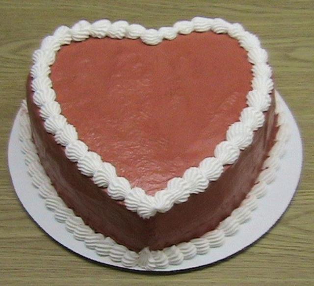 Chocolate Heart Shaped Ice Cream Cake Picture Jpg Hi Res