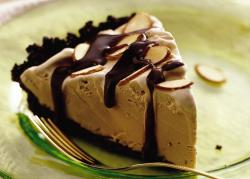 Coffee ice cream with chocolate dress and almonds.JPG