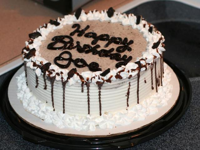 Ice cream birthday cakes with chocolate cake decor photos.JPG