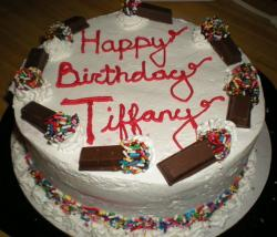 Ice cream cake with chocolates and colorful sprinkles perfect for birthday party.JPG