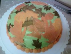 fall cake...i cant wait to do big cakes!!!