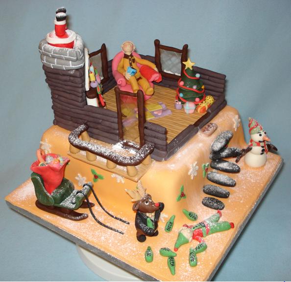 V A Christmas Cake Christmas Card