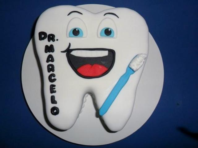 Dentist Cake In The Shape Of A ToothJPG
