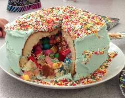 Homemade M&M pinata cakes photo.JPG