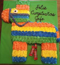 Horse pinata shaped cake photos.JPG
