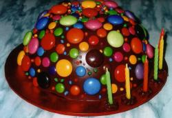 M&M chocolate birthday cake picture.JPG