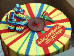 Mecican pinata theme cake pictures.JPG