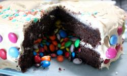 mm cake recipe picture for how to make a m&m cake.JPG