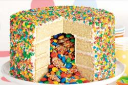 Simple yet pretty looking M&M cakes pictures.JPG