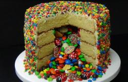 2015 m & m cake recipe for the perfect birthday party.JPG