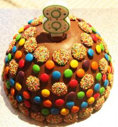 Big kids pinata cakes  with  M & M cake decoration.JPG